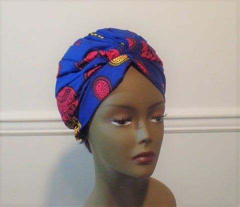 African Print/Ankara Ready To Wear Turban - Ankara Boutique