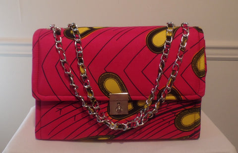 Designer Inspired Ankara/African Print Shoulder Bag - Ankara Boutique