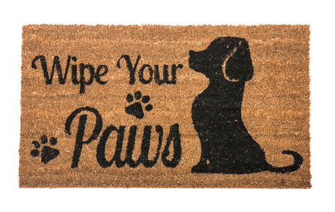 Picture Of A Dog Welcome Mat