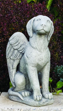 Picture Of Dog Sculpture With Angel Wings