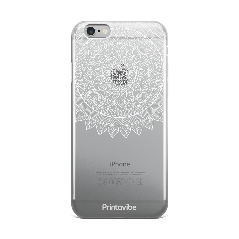 Circle Lace Pattern iPhone Case - Phone Case | Printavibe.com