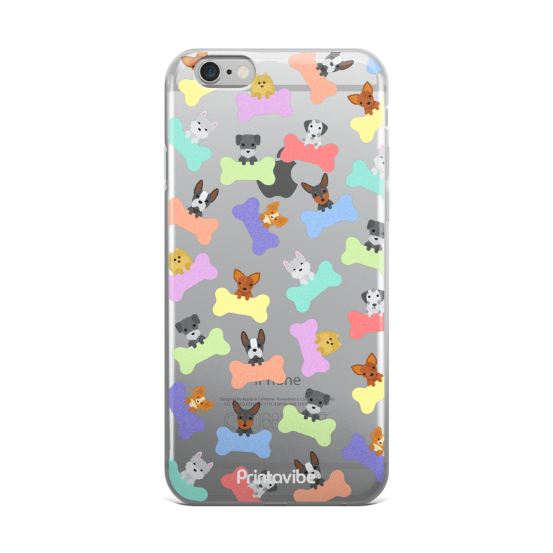 Pastel Dogs iPhone Case - Phone Case | Printavibe.com