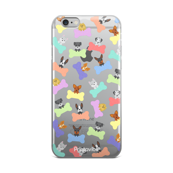 Pastel Dogs iPhone Case