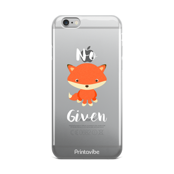 No Fox Given iPhone Case