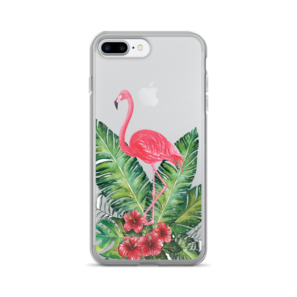 Flamingo Leaves iPhone Case