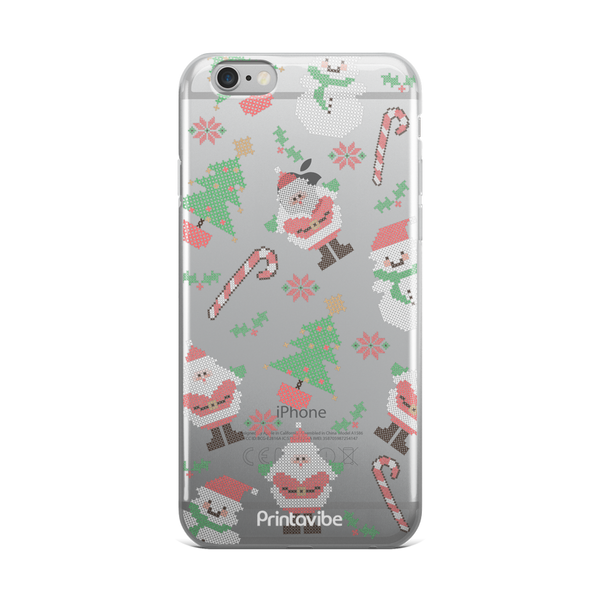 Cross Stitch Christmas Feels iPhone Case