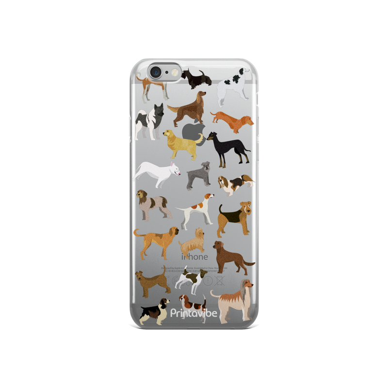 All Over Dogs iPhone Case - Phone Case | Printavibe.com