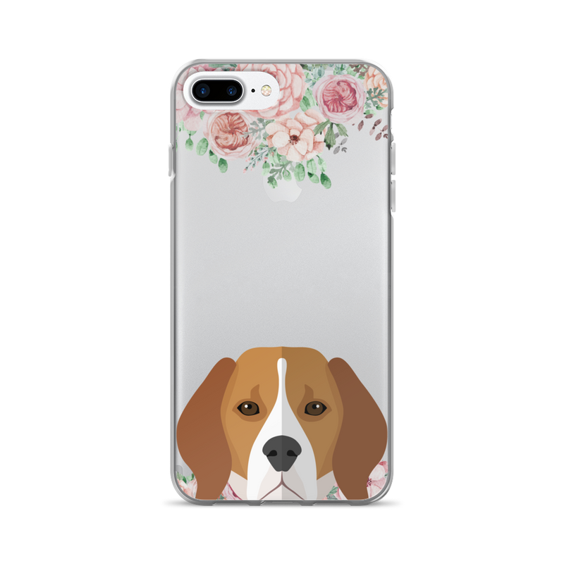 Beagle Floral iPhone Case - Phone Case | Printavibe.com