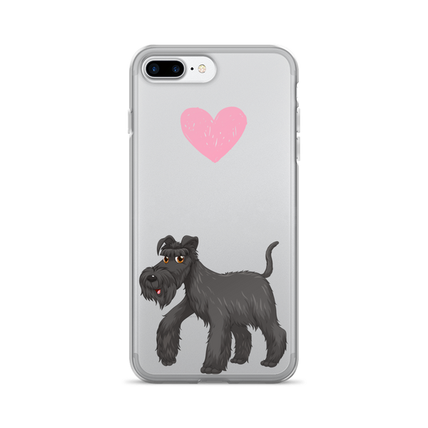 Heart Giant Schnauzer iPhone Case