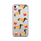 Hot Dog Dachshund with Fries iPhone Case