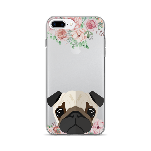 Pug Floral iPhone Case