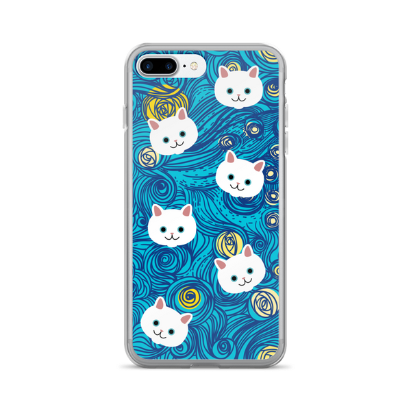 Swirly Cats iPhone Case