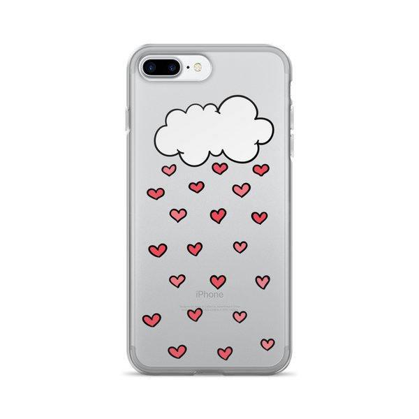 Raining Hearts Love iPhone Case