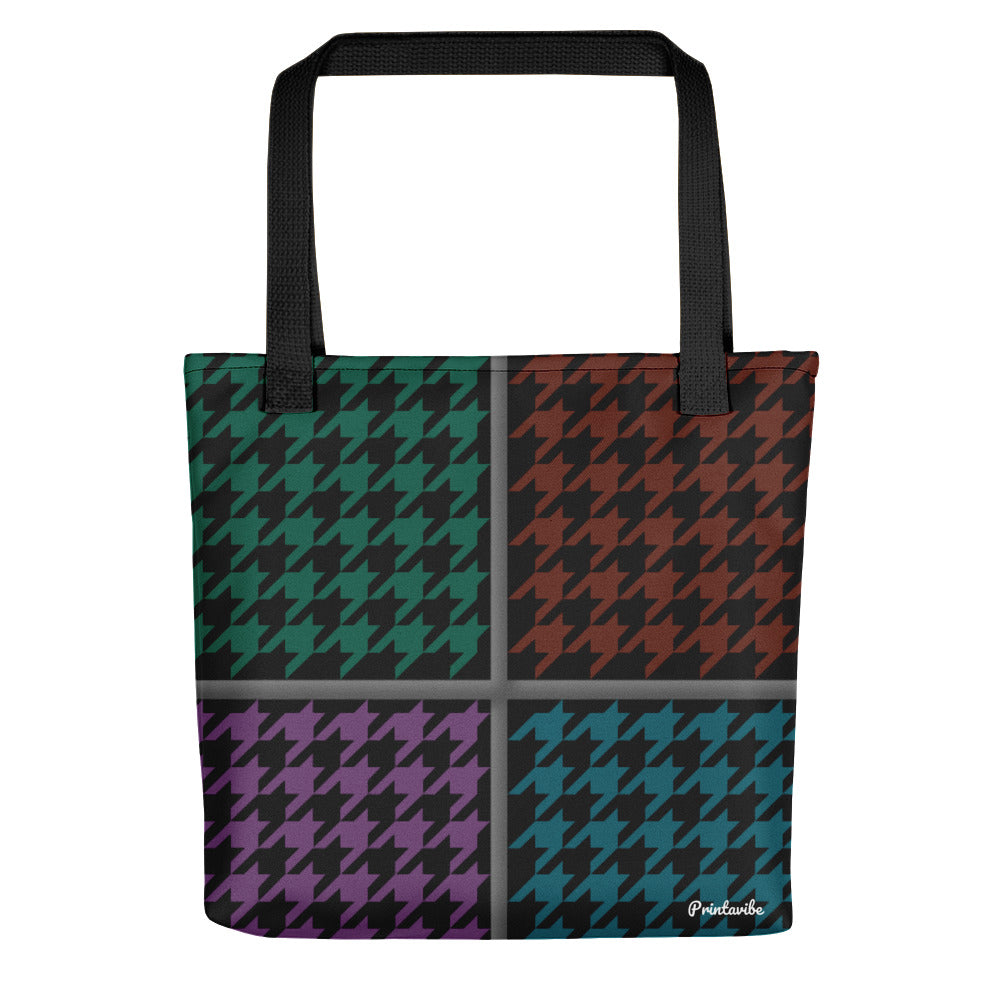 Houndstooth Pattern Tote bag