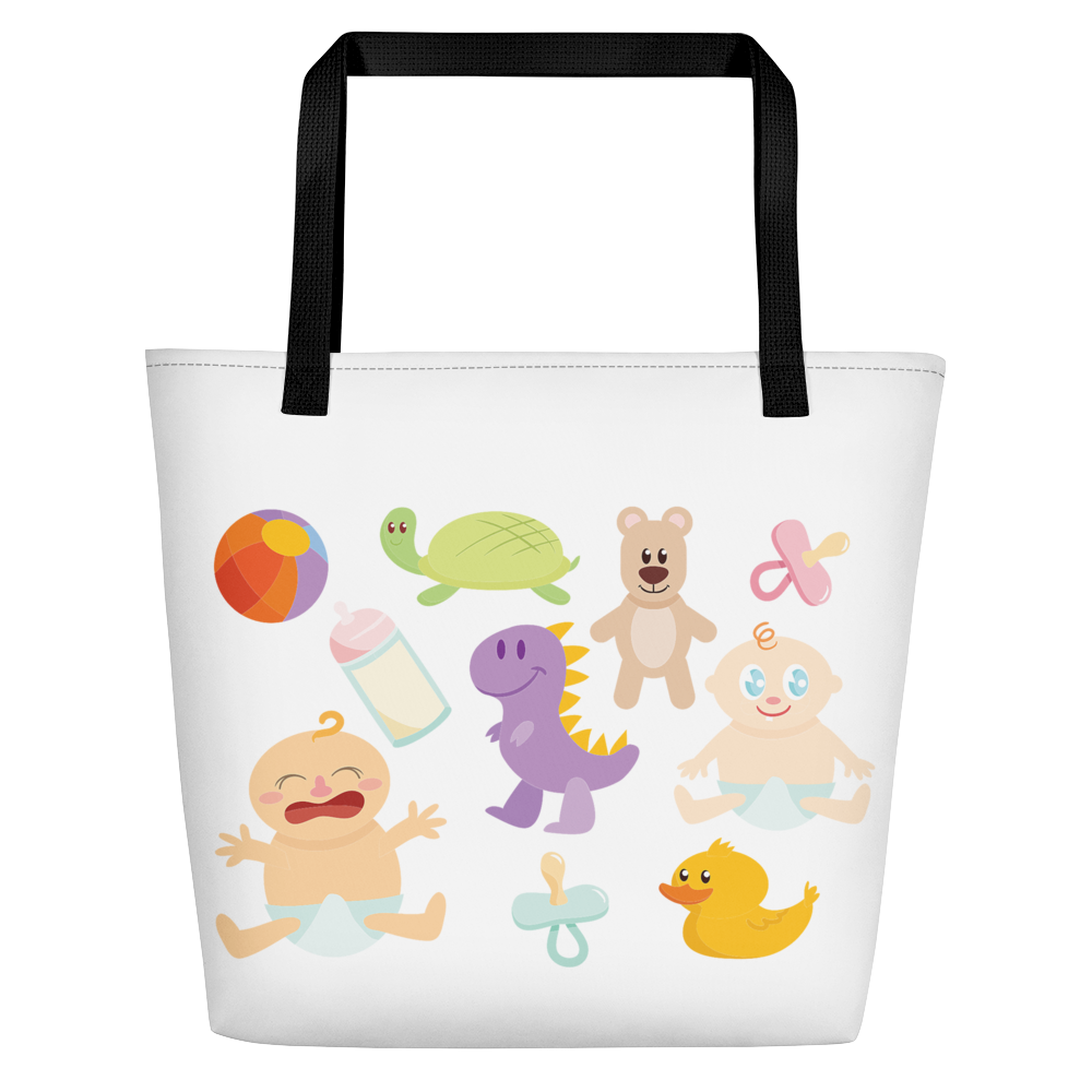 So Cute Baby Diaper Tote Large Inside Pocket 16x20