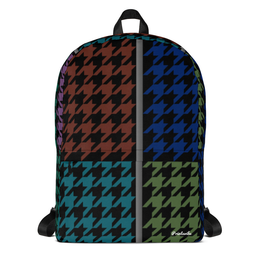 Houndstooth Pattern Laptop Backpack