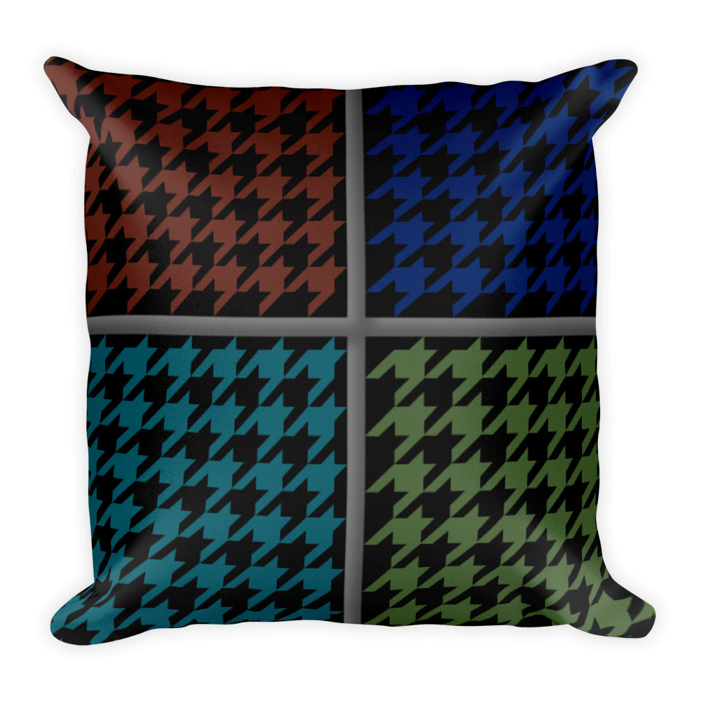 "Herringbone Pattern Square Pillow 18"" x 18"""