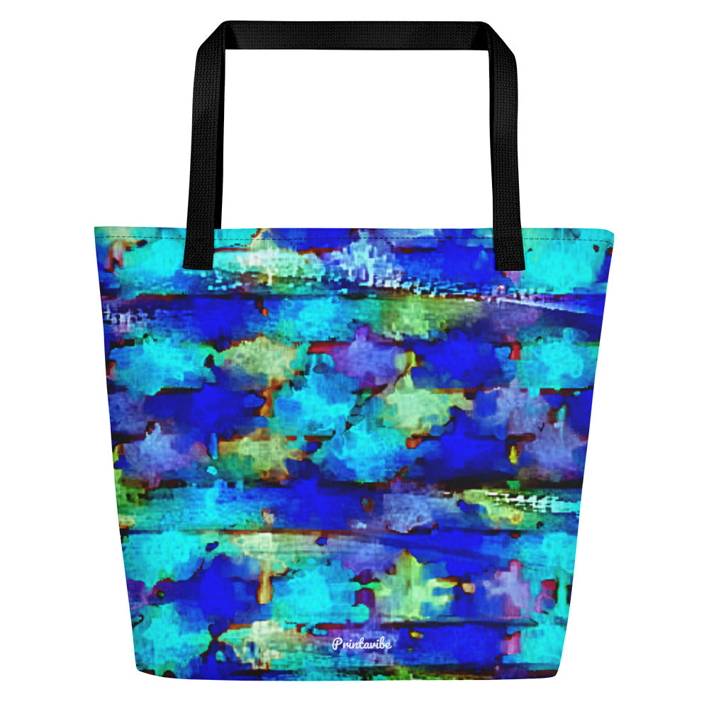 "Speed Painting Pattern Tote Beach Bag 16"" x 20"""