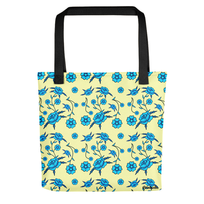 Blue Toile Pattern Tote bag