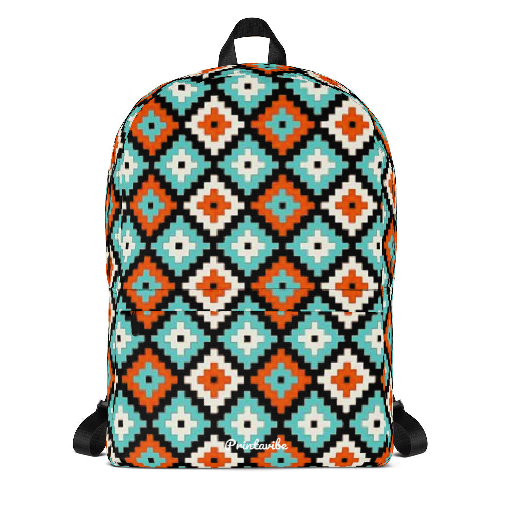 Ikat Pattern Laptop Backpack