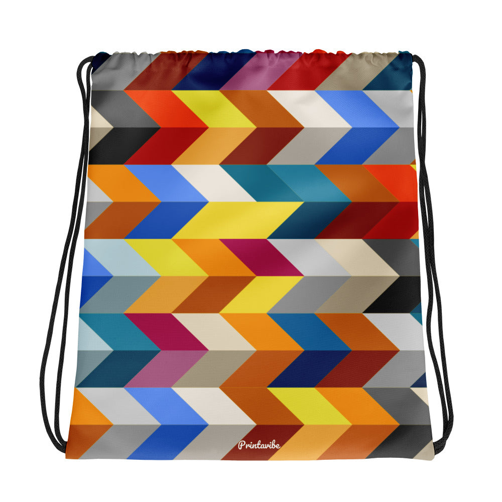 Geometric Pattern Drawstring bag
