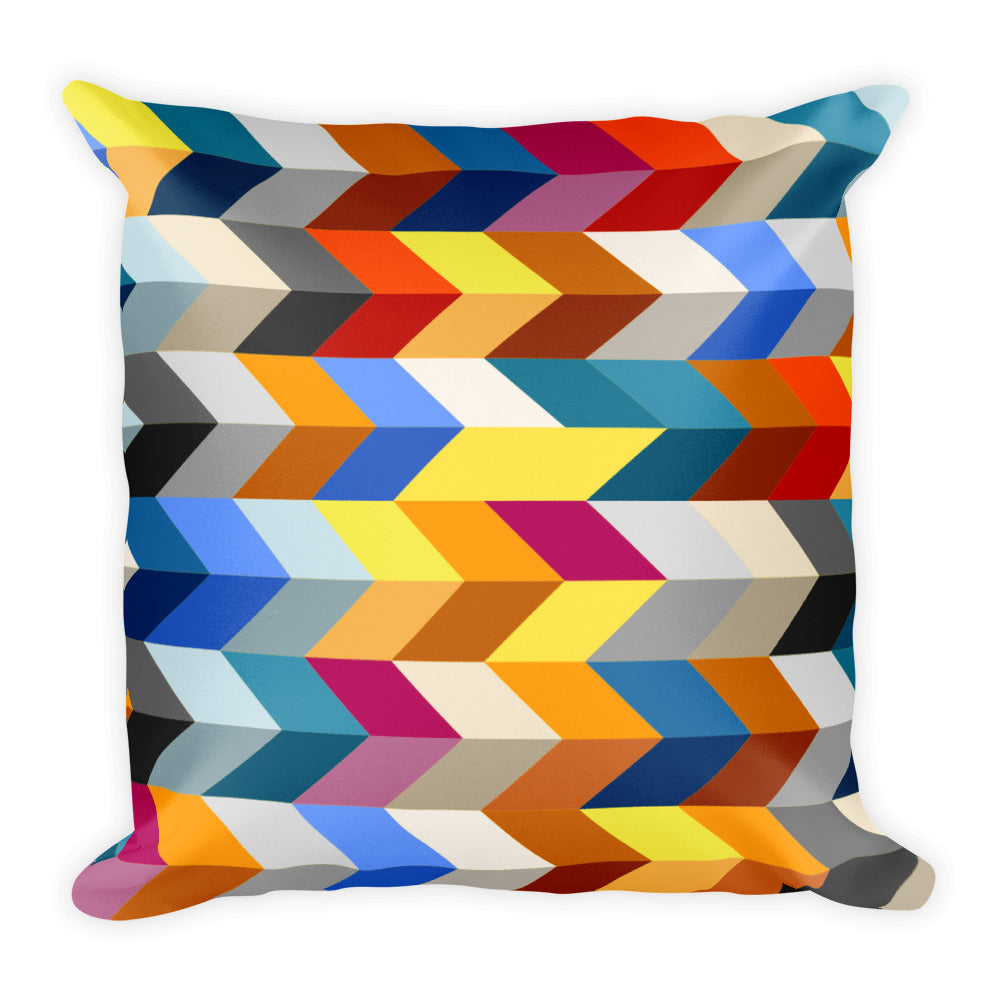 "Geometric Pattern Square Pillow 18"" x 18"""