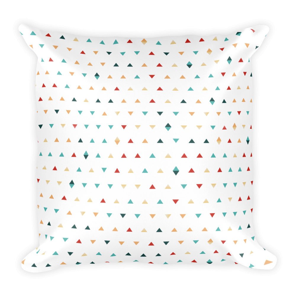 "Triangle Pattern Double Sided Square Pillow 18"" X 18"""