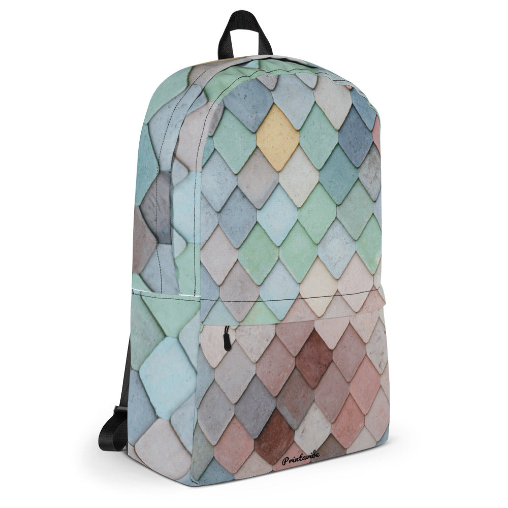 Pastel Scale Pattern Laptop Backpack