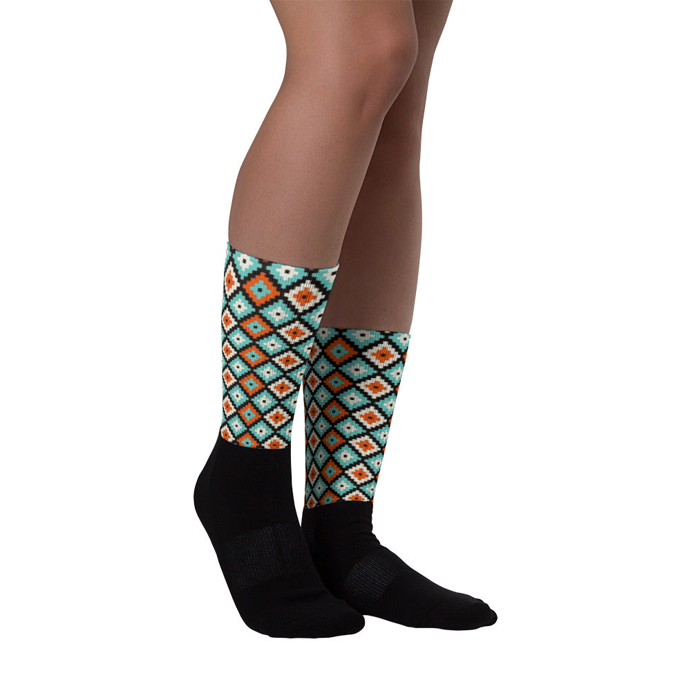 Ikat Pattern Socks