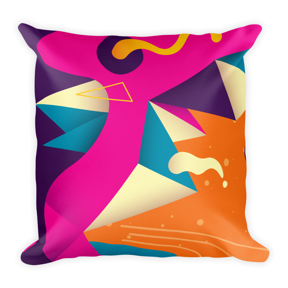 "Modern Print Square Pillow 18""x 18"""