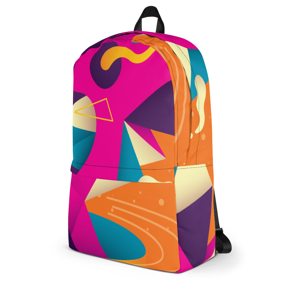 Modern Print Pattern Laptop Backpack