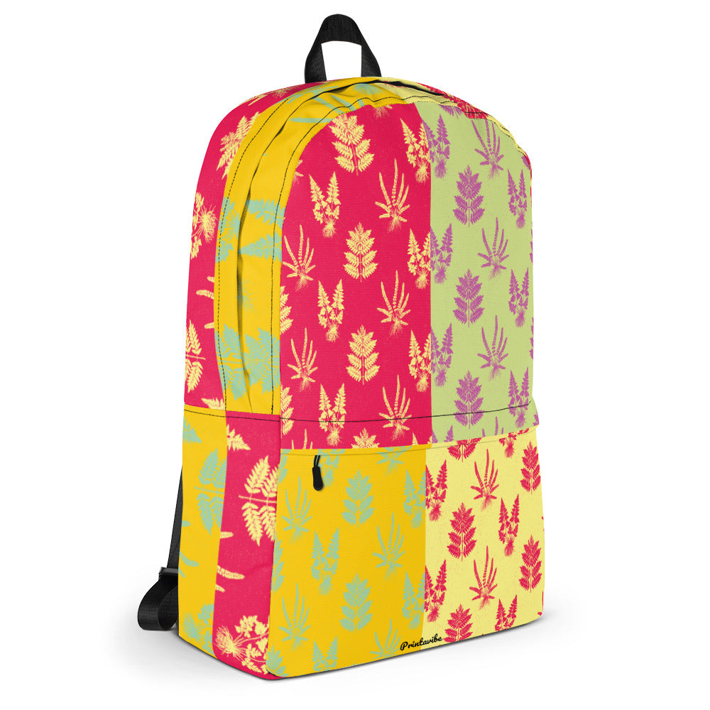 Fern Print Pattern Laptop Backpack