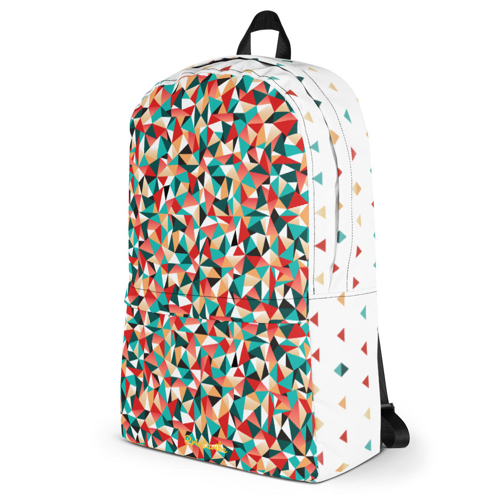 Triangle Pattern Laptop Backpack