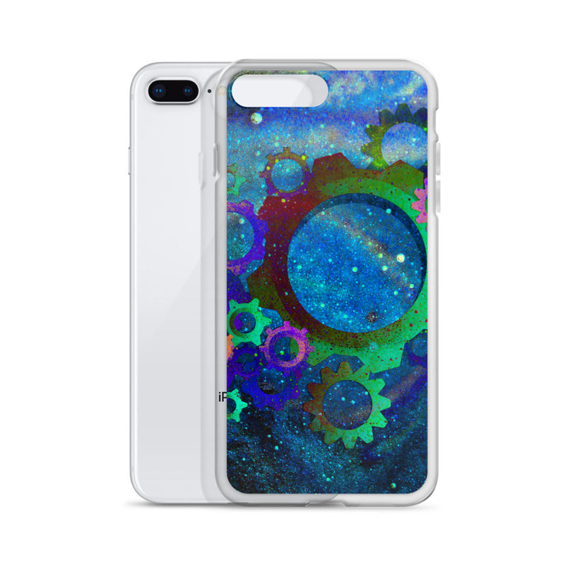 Space Gears Galaxy Print iPhone Case