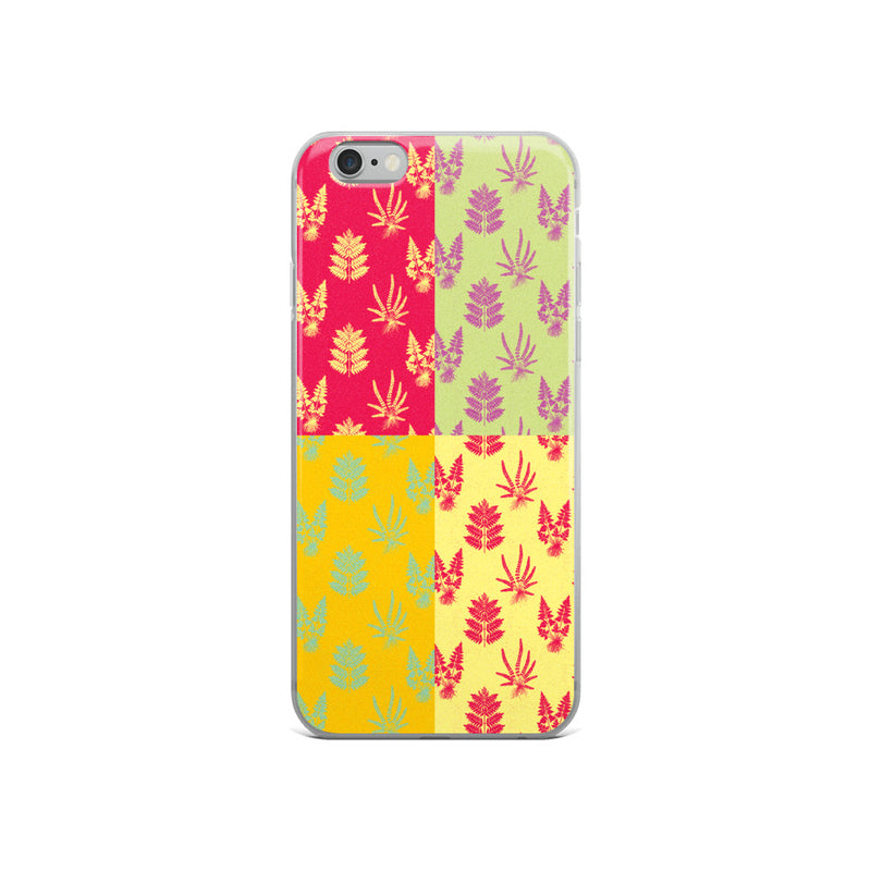 Fern Pattern Pop Art iPhone Case