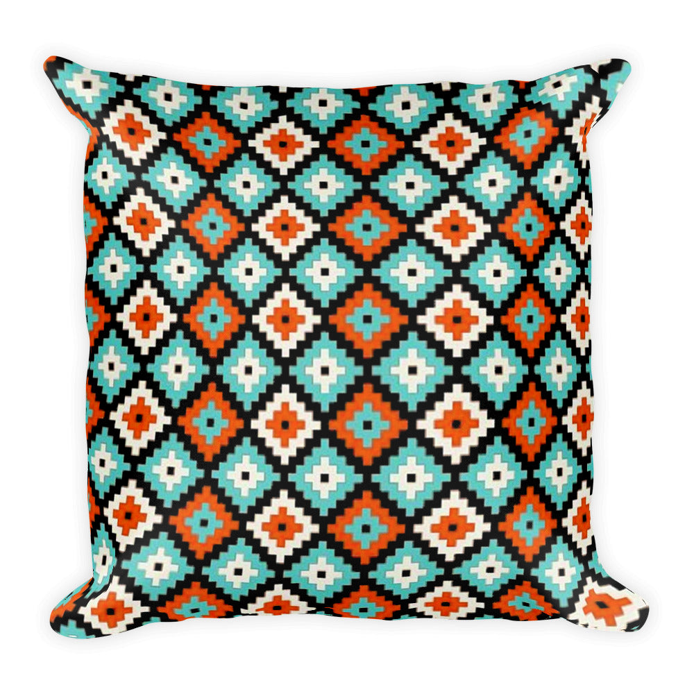 "Ikat Pattern Square Pillow 18 ""x 18"""