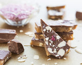 Pieces of handmade Salted Milk Chocolate premium toffee