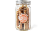16oz jar of handmade Hawaiian Mac premium toffee