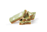 Pieces of handmade Matcha Green Tea all natural toffee