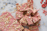 Pieces of all natural Strawberry Kiss Toffee