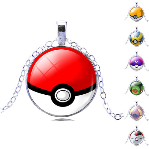 Pokemon Ball Pendant Pokeball Necklaces (7 Different Types!) - iWaaant.it - Shopping Made Easy & Fun