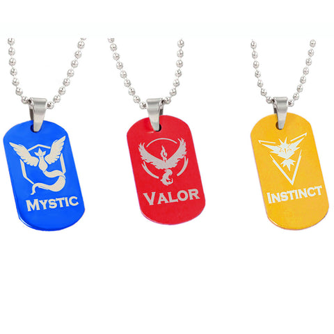 Pokemon Go Dog Tag Necklace (Team Mystic, Team Valor or Team Instinct!) - iWaaant.it - Shopping Made Easy & Fun