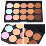 Professional Concealer Palette15 Color Makeup Facial Concealer Camouflage Cream Palette Cosmetic Makeup Base Palettes Cosmetic - iWaaant.it - Shopping Made Easy & Fun