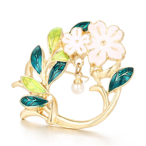 Golden Flower Brooch Pin - iWaaant.it - Shopping Made Easy & Fun