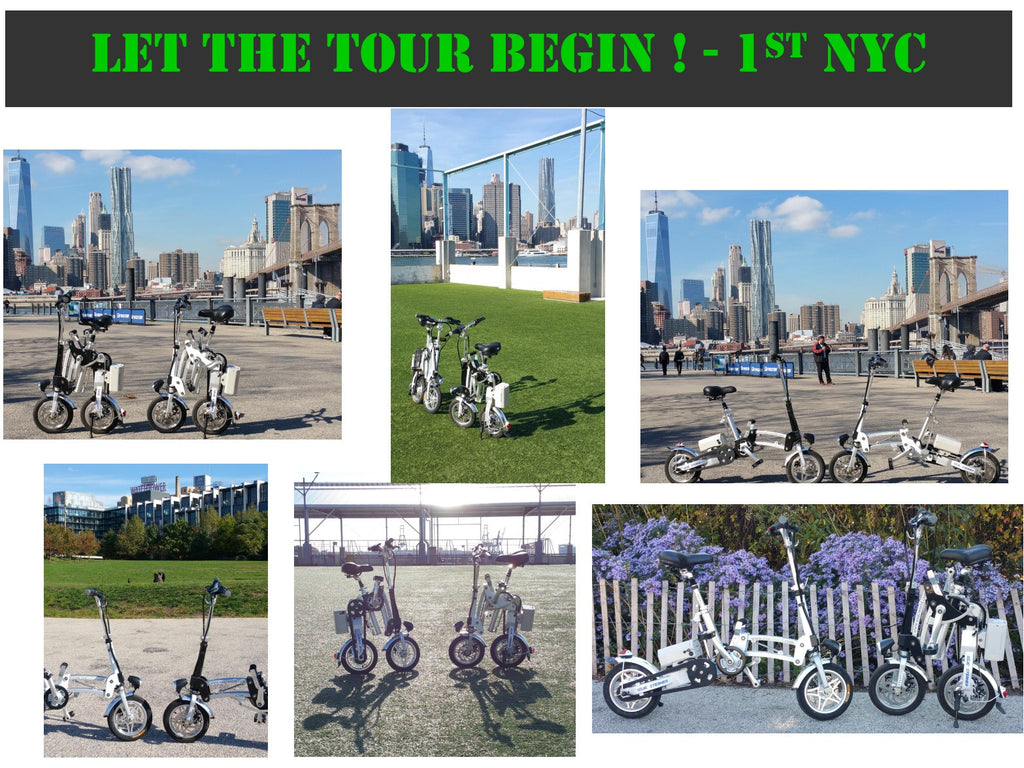 USAC STERNER BIKE East Coast Tour! 1st Stop - NYC. Day One. Check it out.