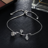 Rose Flower Charm Bracelet & Bangle