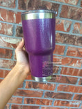 Personalized Glitter Tumbler 30 oz