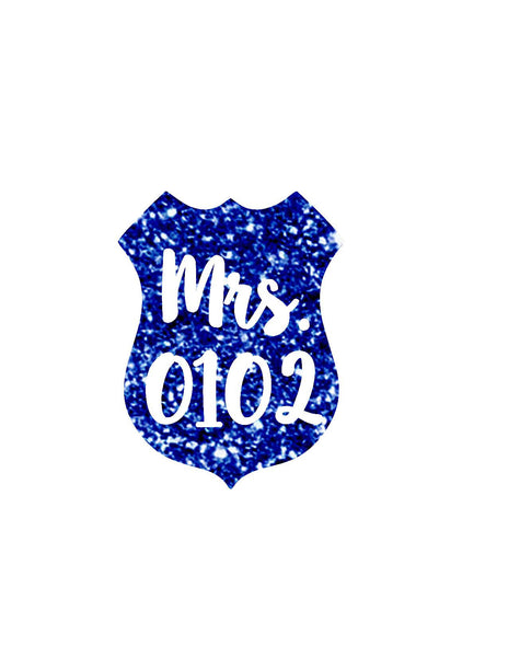 Mrs. | Wifey | Badge | Back The Blue Police Lives Matter Decal