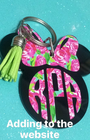 Lilly Pulitzer Dinsey Inspired Monogram Key Chain