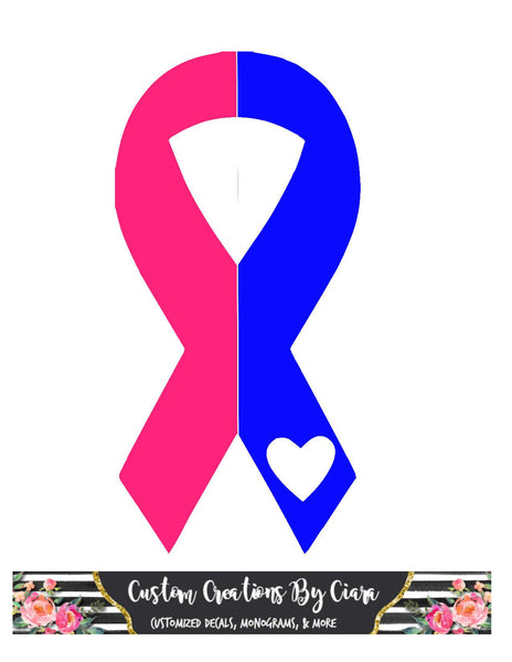 Infant Loss Awareness | Pregnancy Loss Awareness Ribbon Decal
